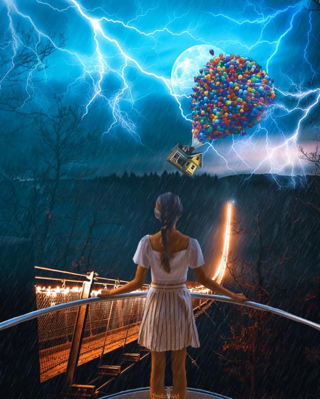 Views on views #travel #explore #wanderlust #girl #bridge #lightning #flyinghouse #createsomethingneweveryday #creativity #moon #sky #woods #rain #editoftheday #bestoftheday #picoftheday #artoftheday #amazing #beautifulscenery