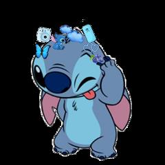 freetoedit stitch blue silly hydroflask