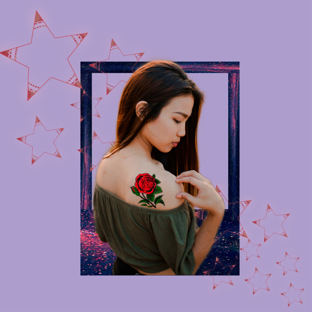 #freetoedit  #stars  #replay #picsartreplay #myedit #background #girl #portrait #creative #araceliss #simplicity #madewithpicsart #tattoo