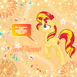 freetoedit mlp mylittlepony sunsetshimmer strong