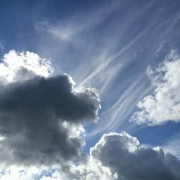 freetoedit kinora clouds bluesky blueskywithclouds
