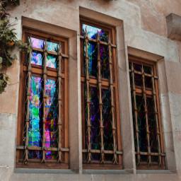 freetoedit colourful window windowsremix church