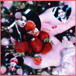 taekook strawberries softcore freetoedit