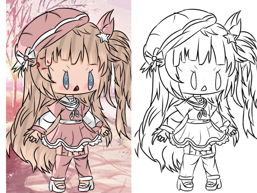 New main oc uwu the right is the line art