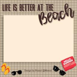 beach beachlife frame freetoedit ftestickers