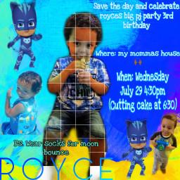 gomom leoseason pjmask invitations birthdayboy