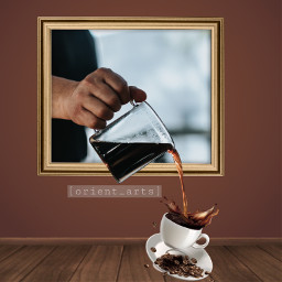 frame coffee threedimensional orient_arts madewithpicsart freetoedit ftestickers