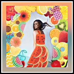 freetoedit summer watermelon fruit girl ecfunfruit funfruit