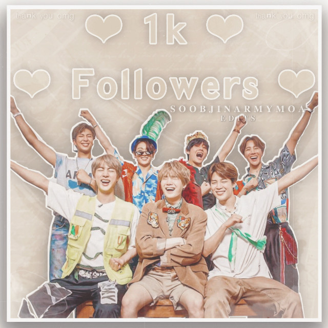 💜 PLS READ 💜  oh my gosh hUhhhh 😍😍😍  ONE THOUSAND FOLLOWERS?!?!? AHHH TYSM SOOBJINNIES WE MADE IT THIS FAR OMG 😭💕💖💞💕💖💖💞💞💕💖💖💞💞💕💞💖💖💞💞💞💖💖💞💞💕💞💖💖💞💞  i never thought i would ever reach this huge number :o it has literally ALWAYS been my dream, but it was an impossible dream to me. but here i am, with a thousand followers 😭💖 i am so grateful for all of you guys   ty to the ppl who have always supported me since the beginning, like @/sugastolemyheartu , @/seokjin-soobin , @/xsuga_  , and LITERALLY so many more people ❤️   thank you so much to my thousandth follower, @-3lly- 💕 i still cant believe you followed me aahh 🤧💖  lol im having a mini party inside my head while typing this, my heart is racinggg 💜  again, THANK YOU GUYSSS <3 i will continue to make edits for you all, and will try my best to improve in the future 💞  love,   soobjinarmymoa 💫  my wonderful taglist: @sleepybabby @_taehyung_wifeu_  @limelight__blink @kimbeomseok3095  @lillie_kpopedit @jiminarmy101 @jeonjaekook @trinitybright5 @iiibxbbles @straykidstan @jungshooktothecore  @_lovelyredrosie_  @tae_tupatroncito  @twinkletaee  @esherman448  @seokjin-soobin  @lovely_softtttt  @sugastolemyheartu  more cant be added for now, at least until mY comments are back, but its usually [🌹] to be added and [🥀] to be removed  credits to the owners of the stickers used in this edit 🦋  #1k #1kfollowers #thankyou #bts #bangtanboys #bangtansonyeondan #kimnamjoon #kimseokjin #minyoongi #junghoseok #parkjimin #kpop #kimtaehyung #jeonjungkook #btsedit #army #kpopedit #freetoedit