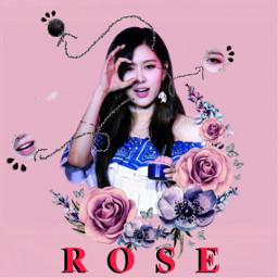 rose roseblackpinkedit blacpinkrose icecream aesthetic freetoedit