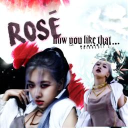 howyoulikethat hylt rose rosé blackpink