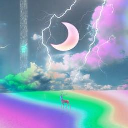 freetoedit myedit moonart sky clouds