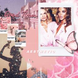 freetoedit aesthetic pink glitter replay