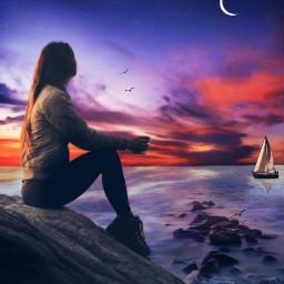 freetoedit solitude sunset peacefulmoments