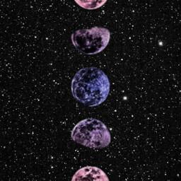 freetoedit moon space stars purple