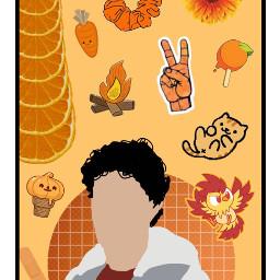 orange orangethemed orangeaesthetic lockscreen freetoedit