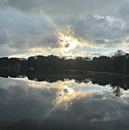 freetoedit clouds reflection hayward wisconsin
