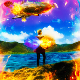 freetoedit fire flame colourful visual