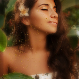 freetoedit girl blur green aesthetic