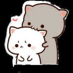 freetoedit sticker uwu cats couple