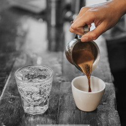 coffee water colorsplash colorsplasheffect blackandwhite ftestickers freetoedit