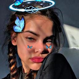 bluebutterfly butterfly blue cute edit freetoedit