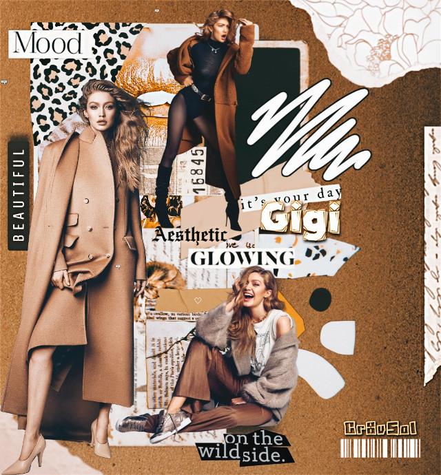 Gigi Edit 🌿🌼   #freetoedit #collage #gigihadid