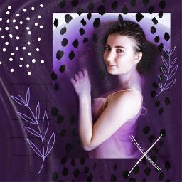freetoedit purple plum girl klingo irclilacwater lilacwater
