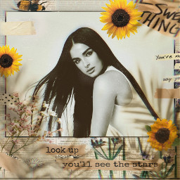 freetoedit newspaper newspaperedit girl sunflowers