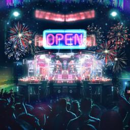 freetoedit neonlights party club dj