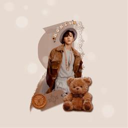 ten bear tan beige kpop freetoedit