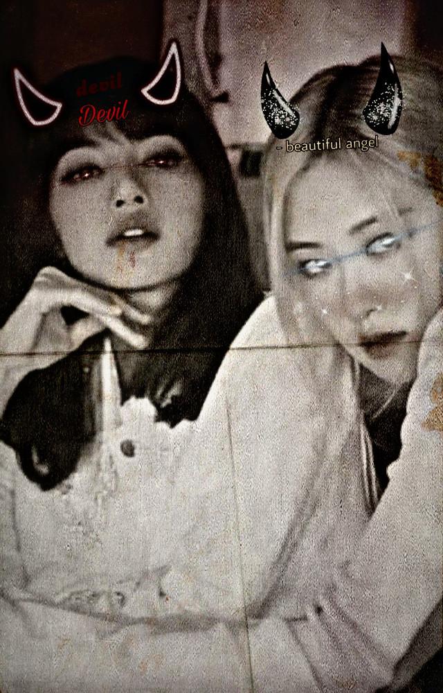 @rosie_editzz #devil #angel #chaelisalove #chaelisa #lalisamanoban #parkchaeyoung