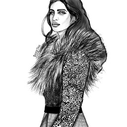 witcher yennefer character drawing outline freetoedit
