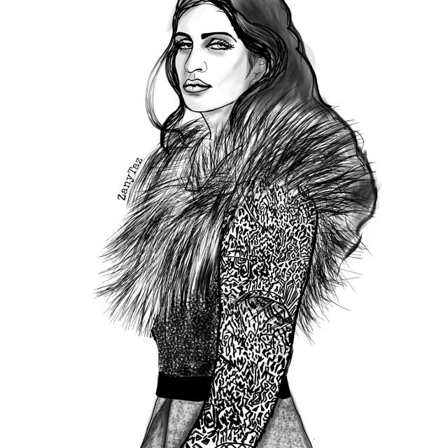 #Witcher #Yennefer of Vengerberg. I enjoyed this #character a lot. #drawing #outline #lineart #outlineart #illustration #drawnbyme #sketch #portrait #drawtool #heypicsart #madewithpicsart #fur #woman #sorceress  #freetoedit