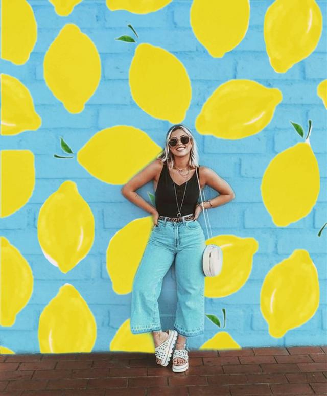 #freetoedit #remixit #my #design #mydesign #mypicsart #myedit #mycreation #myreplay #girl #lemon #pattern #wall #yellow #blue #sunny #summer #summertime #summervibes  #aesthetic #aestetic #tumbrl