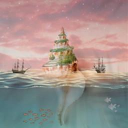 freetoedit palace littlemermaid ship conch ocean sea seashell seashore shell galaxy ircseatreasure seatreasure