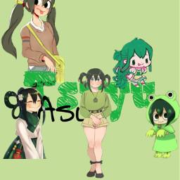 freetoedit tsuyuasui mha wallpaper