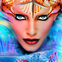 myoriginalwork originalart conceptart womanportrait colorful avantgarde mysterious underwater seashells freetoedit ircseatreasure seatreasure