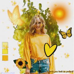 yellow beautiful bright candiceking queen freetoedit