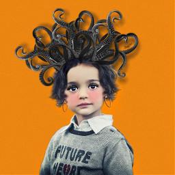 octopus octopushair girl myedit hairstyle tentacles freetoedit echairart hairart