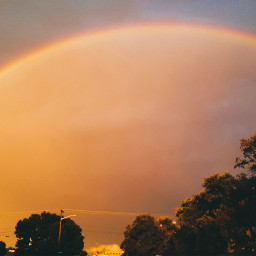 rainbow summer photography nature sky yellow freetoedit