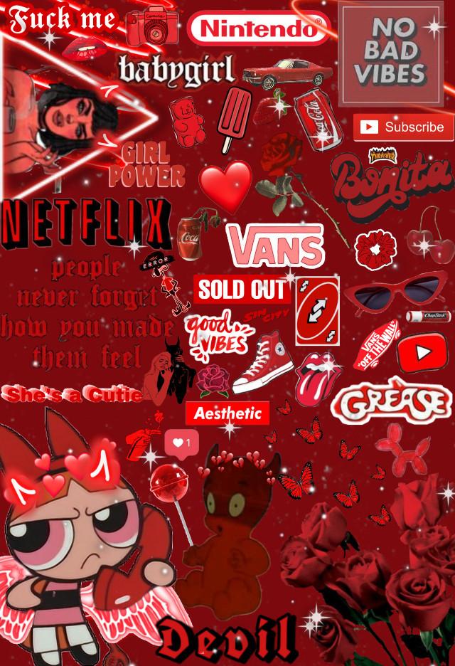 #redaesthetic #red #aesthetic #redbackground #background #summer #babygirl  #freetoedit