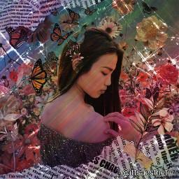 freetoedit picsart papicks aesthetic galaxy myedit flowers glitters sparkle tatevedits tatevesthetic7