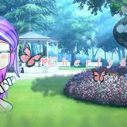 picsart google gachalife 4k congrats gacha gachaclub aestheticbackground parkbackground park animebackground art shading cherly4k contestenrty butterflies cherly freetoedit