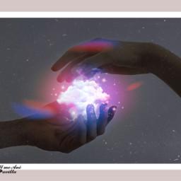 freetoedit papicks picsart galaxy space cloud clouds light glitter stars star hand hands aesthetic