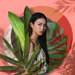 girl girly plant pinkaesthetic