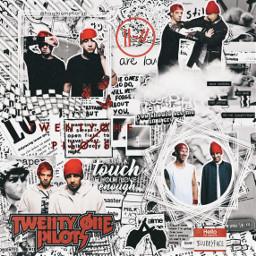 twentyonepilots twentyønepiløts top 21pilots blurryface red white tylerjoseph joshdun freetoedit