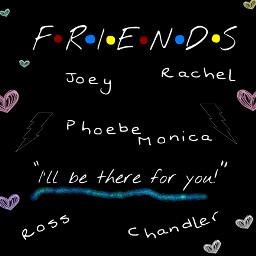 friends joeytribbiani rachelgreen chandlerbing monicageller rossgeller pheobebuffay illbethereforyou freetoedit