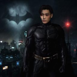 superhero picsart ateez san kpop dark aesthetic freetoedit