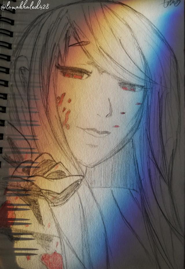 #freetoedit  #myart #sketch #rize #tokyoghoul #anime #girl #rainbow #light #colors #paper #pincel #hair #red #drawing #sketchbook #tokyo #ghoul #tokyo_ghoul #mydrawing #nofilter  #mydraw #mysketch #hopeyoulikeit 🖤🖤